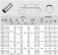 steel flange - bearing steel exporting round Flange standard extended linear bearings LM50LUU LMF50UU LMK50UU LMH50UU