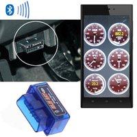 Wholesale Universal Mini ELM327 OBD2 OBDII Bluetooth Auto Scanner Car ELM Tester Diagnostic Tool Code Reader