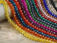 Wholesale High quality sold by strand mm mm mm mm mm Crystal beads loose rondelles glass ball supply bracelet Jewelry DIY NEW