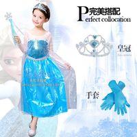 Wholesale new flower girl dress and Children s dresses Frozen three piece dresses girls dress children dress performance cloth