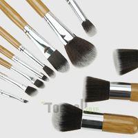 makeup brush set - wood Makeup Brushes Tools Sets Brushes Set Professional Portable Full Cosmetic Brush Eyeshadow Lip Brush Christmas gift
