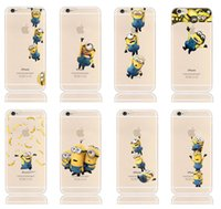 Wholesale Cute Iphone Covers Wholesale - For iPhone7 Despicable Me 2 Me2 Cute Cartoon Minions Soft TPU Gel Case Clear Transparent Back Cover for iPhone 5 5S 6 7 Plus iPhone6S
