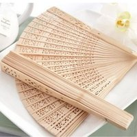 Wholesale Fashion Home Decor Chinese Hand fans Folding Bamboo Wood Color Fans