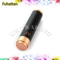 Wholesale Hottest Fuhattan Mod Red Copper e Cigarette Machanical Mods Clone USA Manhattan Mod Carbon Fiber Fuhattan Mods Magnet Bottom e Cig Mods