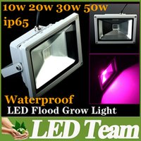 Wholesale 10W W W W Super Bright Waterproof Led Grow Lights AC V Blue nm Red nm Hydroponic Plant and Flower For Indoor Plants Growth