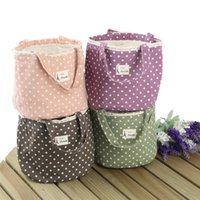 bento lunch bag - 20Pcs Thermal Drawstring Lunch Bag Closure Lunch Portable Linen Lace Tote Storage Bento Picnic Thermal Pouch Insulation Cooler Carry Bag