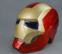 Wholesale fishion Iron Man Motorcycle Helmet Mask Tony Stark Mark Cosplay Mask with LED Light