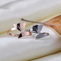 asian wedding ideas - fashion ideas tail ring jewelry Personality average size ring rose gold fox openings steel ring titanium for women