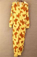 apartments services - Winter cute cartoon piece pajamas men and women couple home service apartment animal tiger flannel pajamas AU53