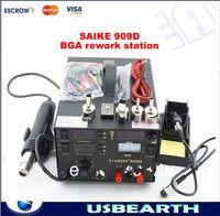 al por mayor solder station hot air-Estación de la reanudación de BGA SAIKE 909D con la pistola de aire caliente, soldador, DC Fuente de alimentación 3 en 1