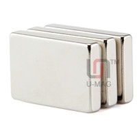 Livraison gratuite 2pcs Bloc 30x20x5mm N50 Aimant de la terre Bloc néodyme Rare Super Strong
