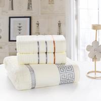 Wholesale 3pcs towel Cotton bath beach face towel sets for adults cm cm p cm cm p fiber gift bathroom baby towels
