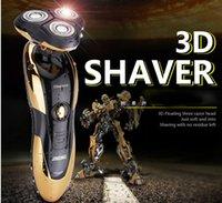 2016 máquina de afeitar electrónica Triple segmento de cuchilla 3 máquinas de afeitar eléctricas de los hombres 3D que flota Tres maquinillas de afeitar lavable cabezal de afeitado