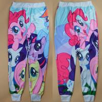 Wholesale Alisister New cartoon jogging pants my little pony clothes d sweatpants printed men women pants cute Couples horse pants
