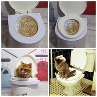 aids toilet - Plastic Easy to Learn Cat Toilet Training Kit for pet Training and Behaviour Aids drop shipping