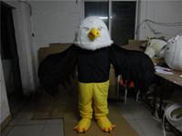 bald eagle cartoon - Bald White Eagle Mascot Character Costume EVA Bird Bald White Eagle Cartoon Adult Size Party Fancy Dress