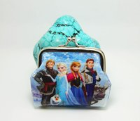 Wholesale Girls D Cartoon Frozen Coin Purse with iron button Anna Elsa Olaf shell bag wallet Purses children child Gifts For Holidays DHL Ship