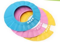 Wholesale High Quality Baby Child Kid Shampoo Bath Shower Wash Hair Shield Hat Cap Yellow Pink Blue