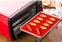Wholesale Red Pyramid Pan Nonstick Silicone Baking Mat Mould Cooking Mat Oven Baking Tray