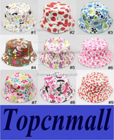 Wholesale 2014 New Fashion Baby sunhats Children bucket hat kids flower casual caps