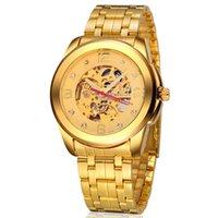 automatic plate - WEIGUAN brand watch Men s gold hollow mechanical waterproof watch luxury Gold Plated Watch Strap Watch Casual watch