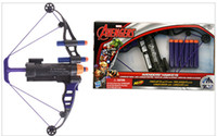 bow and arrow gun - Boy Toys Children Soft bullet gun Toys Hot Kids Diffuse the Avengers Alliance Heroes Eagle Eye Long Shots Bows and Arrows