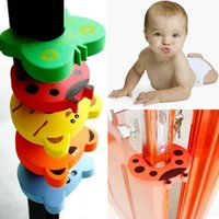 Wholesale Child kids Baby Animal Cartoon Jammers Stop Door stopper holder lock Safety Guard Finger Protect colors