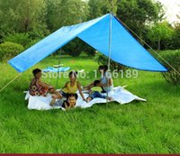 Backpacking awnings and shades - With rod and wind rope cm Outdoor awning sun shade beach tent square sail summer shade picnic sunshade tents color