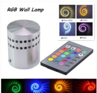 Wholesale LED Wall Light W AC85 V RGB Wall Lamp KTV Karaoke Bar Decoration LED RGB Bulb with Keys Remote Control
