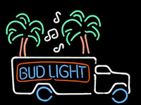 Wholesale NEW BUD LIGHT MAGIC BEER TRUCK HANDCRAFTED REAL NEON GLASS TUBE BEER BAR NEON LIGHT SIGN