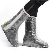 anti skid shoe covers - Woman Foldable Flat Anti Skidding Waterproof Rain Proof High Shoes Cover Case