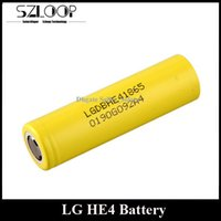 Wholesale Geninue LG HE4 Battery mAh A V Mod Battery Flat Top fit E Cigarette Mods
