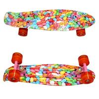 banana candy - Color Of Candy Tie Dye Inch Plastic Mini Cruiser Skateboard Long Board Banana Retro Skate Longboard personality
