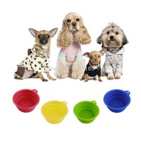Wholesale New Collapsible Dog Cat Pet Silicone Travel Feeding Bowl Water Dish Feeder sale