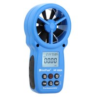 Wholesale HoldPeak HP A LCD Digital Anemometer Air Volume Wind Speed Area Temperature Humidity Meter Tester Measurement with USB