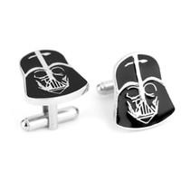 Wholesale Star Wars Darth Vader Stormtrooper Star Wars Logo battleships Mask Helmet Wedding Groom Men Cuff Links Cufflinks For Mens