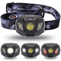 Wholesale Ultra Bright High Power CREE LED Headlamp Flashlight Torch with mAh Lithium Rechargeable Battery for Camping Running Hunting Reading