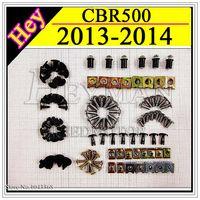 Wholesale Fairing Screw Bolts Kit black For HONDA CBR500 Fairings Bolts Screws