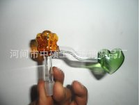 better roses - The new hot color roses heart glass accessories glass hookah glass bong color random delivery large better