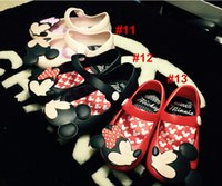 Wholesale Mini Melissa Children s Jelly Shoes Girl s Mickey Minnie Mouse Rain Shoes Kids Baby Infant Toddler Elsa Anna Sandals