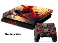 ps4 console - Spiderman decals PS4 SKINS stickers paster tags for ps4 console controller
