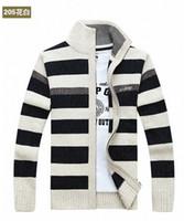 Wholesale Winter sweater men leisure pure color more favors the plus size fertilizer cardigan zipper sweater k1265