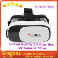 Wholesale Head Mount Plastic VR BOX Version VR Virtual Reality Glasses Rift Google Cardboard D Movie for