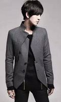Wholesale Two buttons in the winter of slimming asymmetric thermal wool coat man south Korean style fashion leisure suit jacket