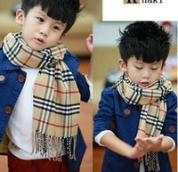 Wholesale Fashion autumn and winter scarves for men and women Doses child warm cashmere scarf England grid Children