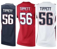 andre tippett white jersey - Factory Outlet New Andre Tippett womens Elite Football Jersey stitched Tippett Retired size S XXL navy blue red white ladies jersey