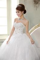 Wholesale 2016 New European and American Hot Wedding dress Qi wedding Bra wedding White Princess Tutu yards B