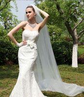 Wholesale 2016 Wedding Veils Meters Long Bridal Veils Veil Ivory Women Wedding Accessories
