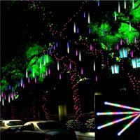 Wholesale 50cm New Christmas Decorative Light String Meteor Shower Rain Led Lamp White V EU US Plug Holiday Light
