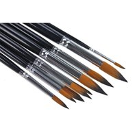 Wholesale 9pcs Set Artists Paint Brush Set Acrylic Watercolor Brush Round Pointed Tip Nylon Hair For Children